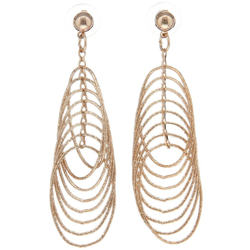 for oval jewelry hooks earrings pin shape plated wholesale earring style gold women fashion multi