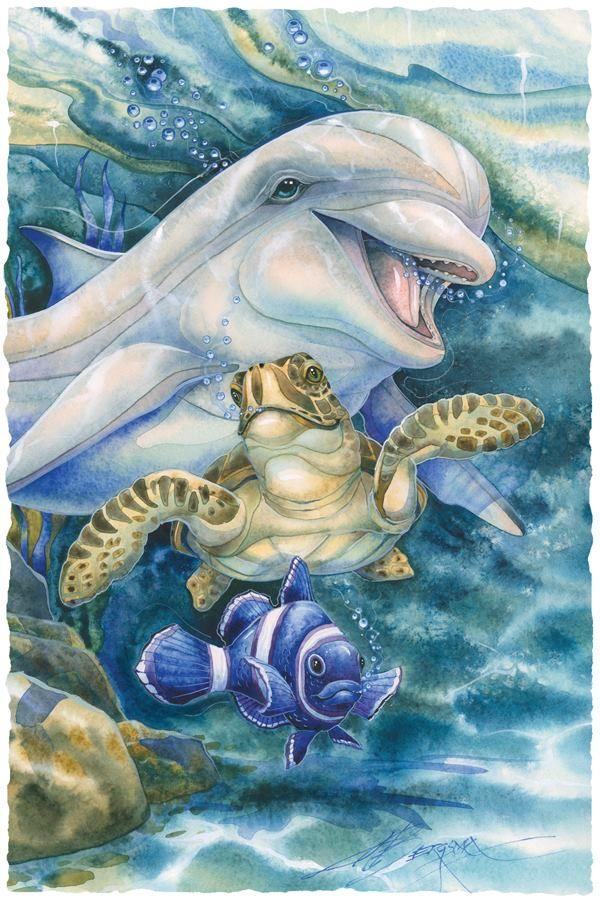 Картинки для декупажа морские животные нас