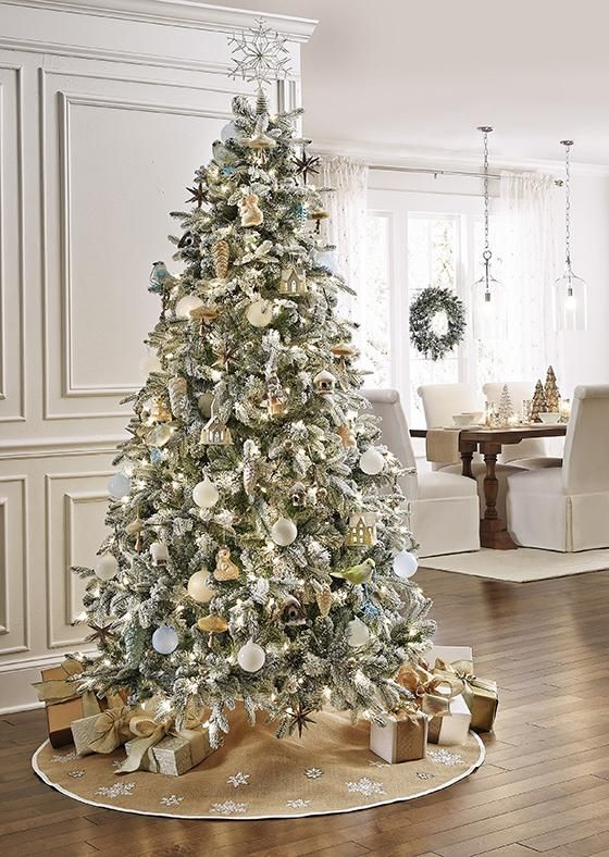 Martha Stewart Living 153 Snowy Avalanche Pre Lit Artificial Tree Pre Lit Christmas Tree Christmas Tree Sale Martha Stewart Christmas