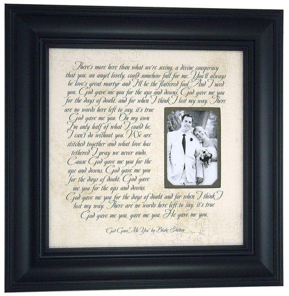 God Gave Me You By Blake Shelton First Dance Song Lyrics Wedding