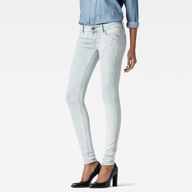 raw 3301 low waist skinny jeans damen