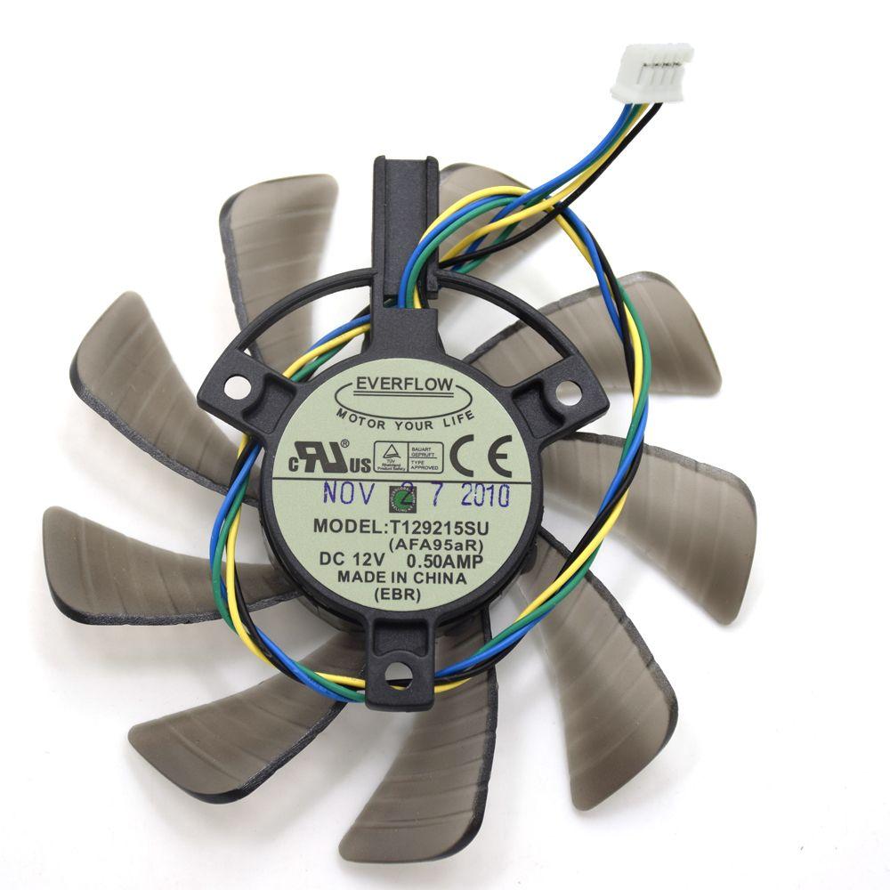 New Original Everflow 85mm T129215su Dc 12v 0 50amp 4pin Cooler