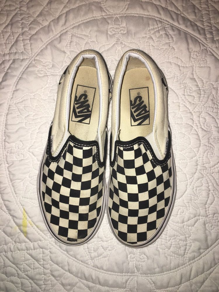 3dd4c3bf8e Checkered Vans kids size 4  fashion  clothing  shoes  accessories   kidsclothingshoesaccs  girlsshoes (ebay link)