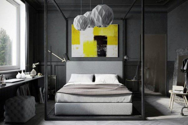 80 Bachelor Pad Männer Schlafzimmer Ideen   Manly Interior Design #bachelor  #design #ideen #interior #manly #manner #schlafzimmer