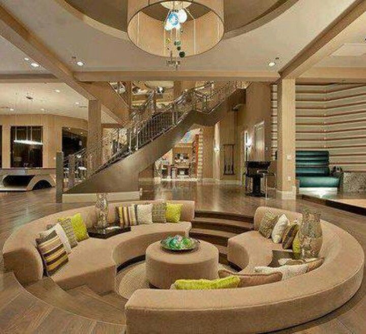 Sunken Circular Living Room  Lovely Living Rooms  Pinterest Extraordinary Circular Living Room Design Review