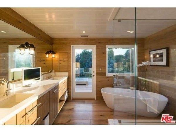 Dreamy steam shower & free standing bathtub.