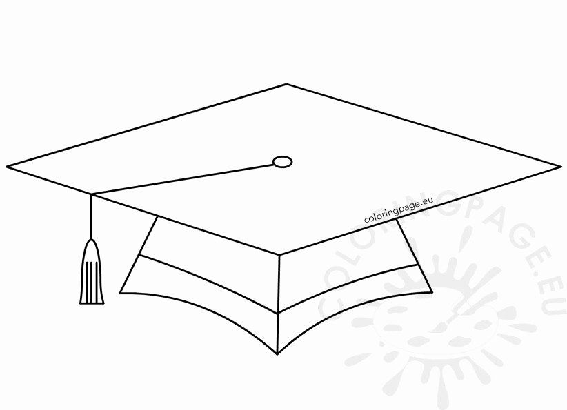 Graduation Cap Coloring Page Fresh Graduation Free Coloring Pages