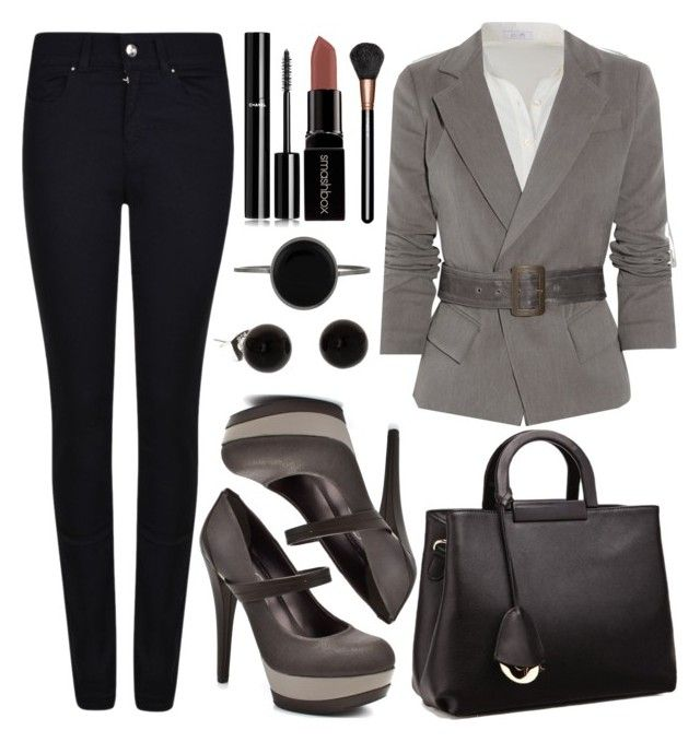 """""""Untitled #3723"""" by natalyasidunova ❤ liked on Polyvore featuring Armani Jeans, Donna Karan, Jessica Simpson, Relaxfeel, Isabel Marant, Chanel, Smashbox and MAC Cosmetics"""