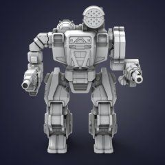 Madcat Classic Mwo 3d Printing Model Assembly Action 3d
