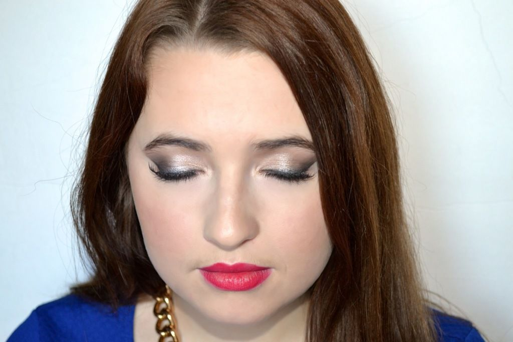 Soft Shimmer and Red Lips