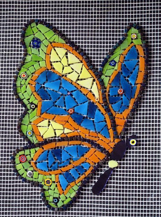 modern mosaic butterfly #butterflies