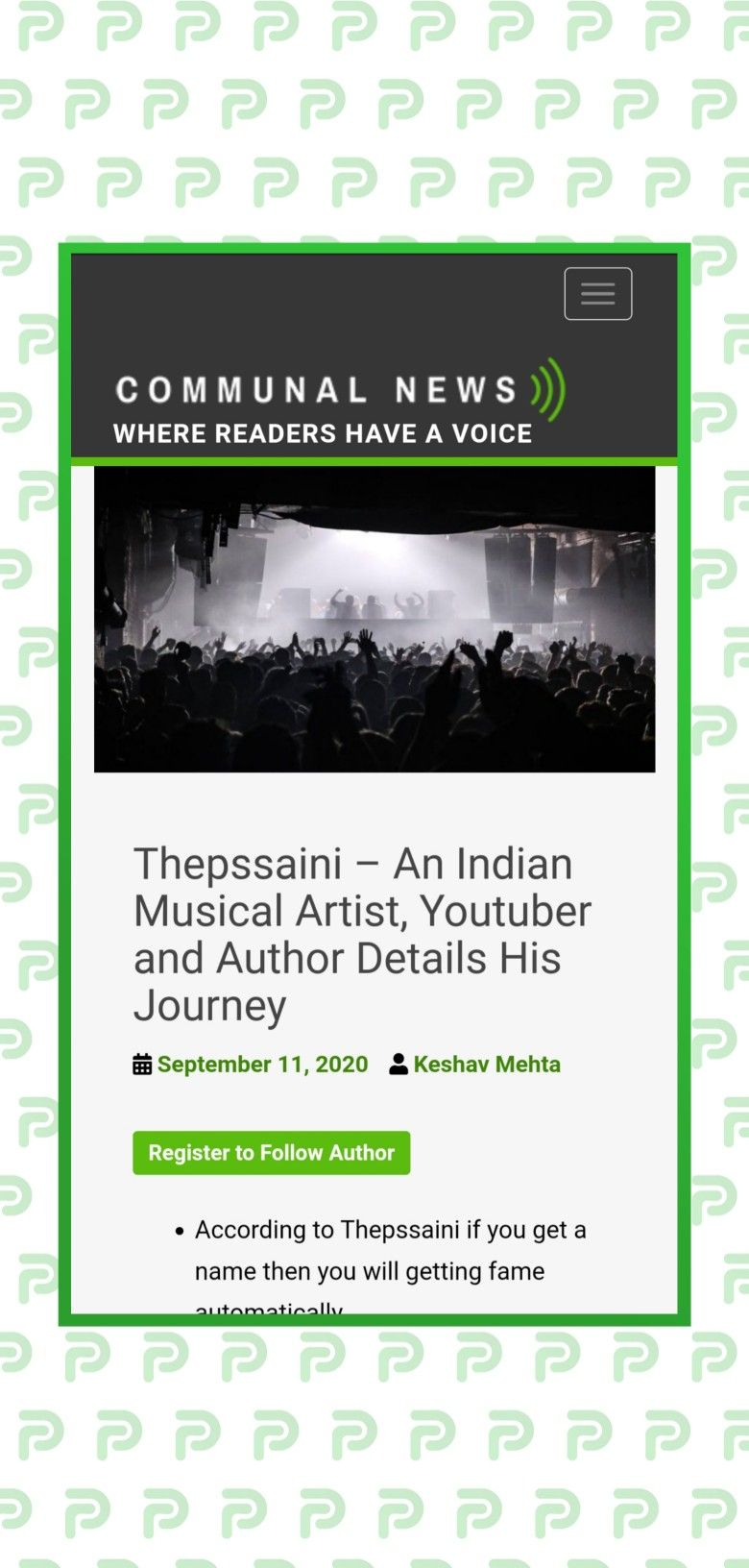 Thepssaini An Indian Musical Artist Youtuber And Author Details His Journey Musicals Soundcloud Music Author