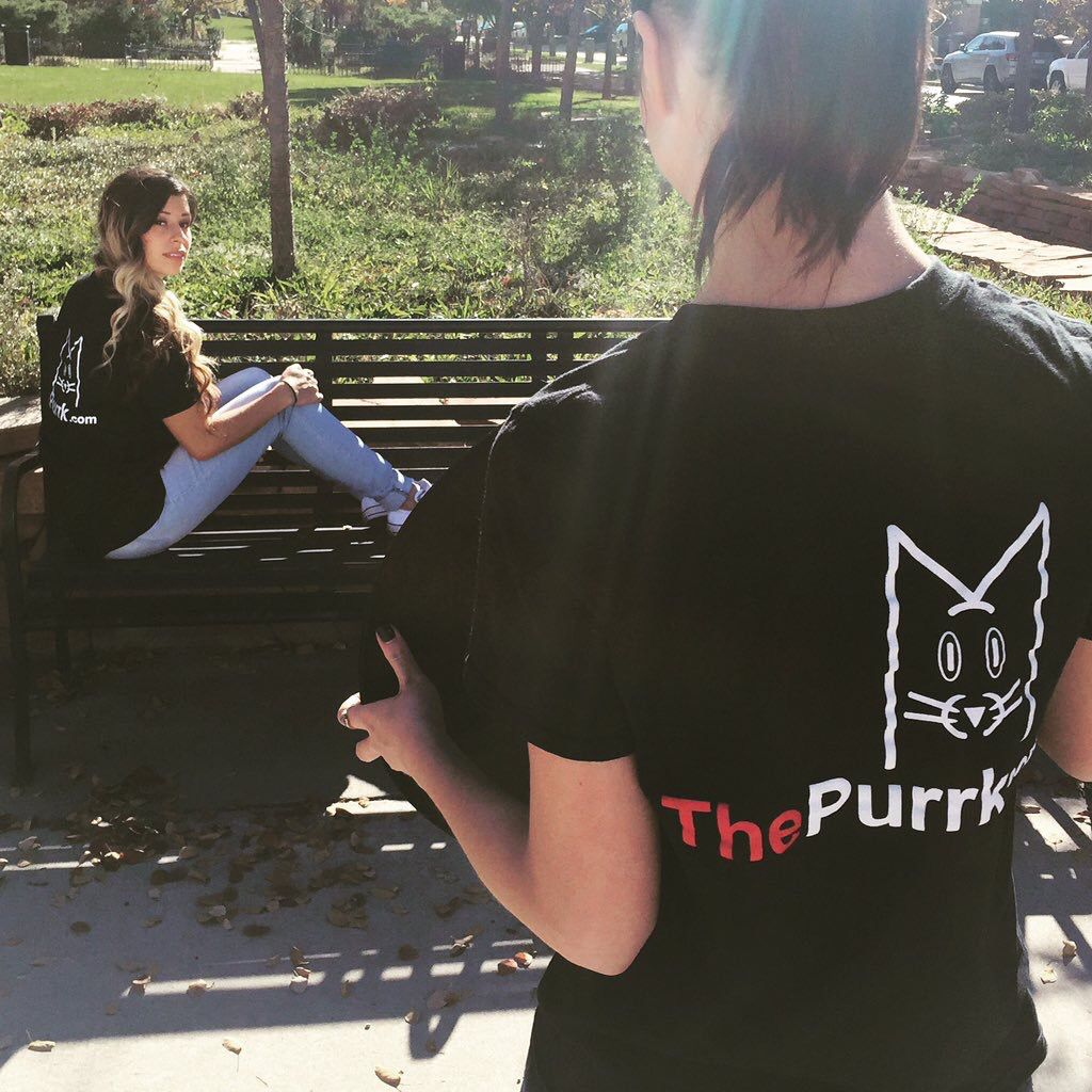 #Photo shoot on this fine #Sunday! Like the shirts? You can get your paws on one too! Help us make a #SLC #catcafe a reality!  https://www.indiegogo.com/projects/cat-cafe-slc-the-purrk/x/12253819#/
