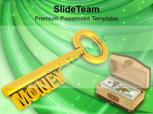 Golden Key With Word Money PowerPoint Templates PPT Themes And - money background for powerpoint