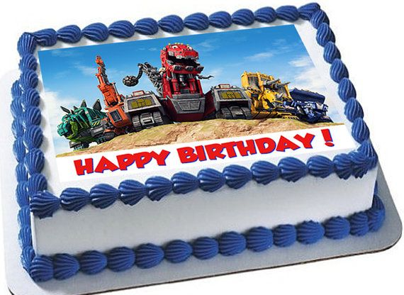 DINOTRUX Edible Cake Toppers Dinotrux Cupcake Topper Cupcak