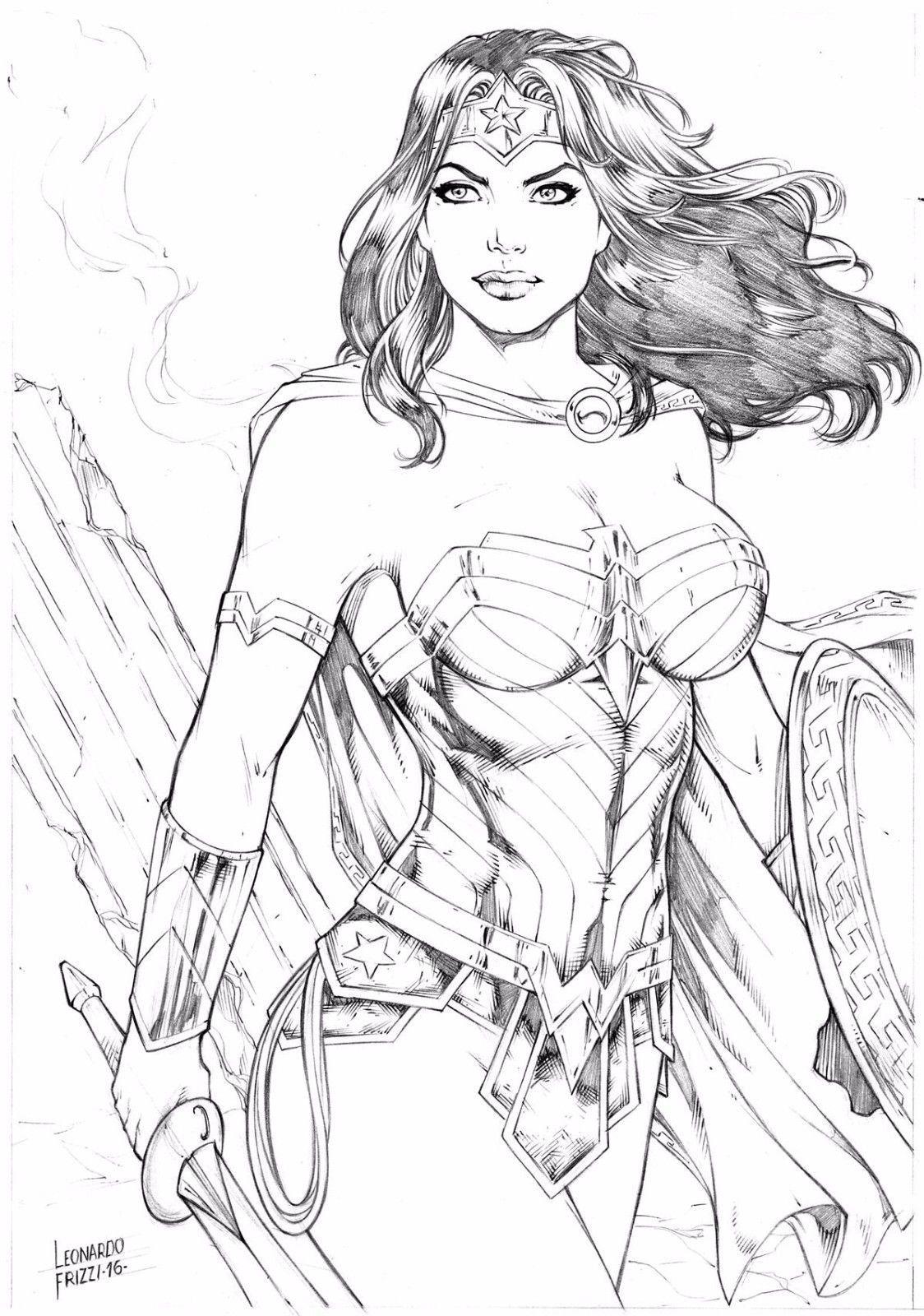 Wonder Woman - Art by Leonardo Frizzi   blanco y negro   Pinterest ...