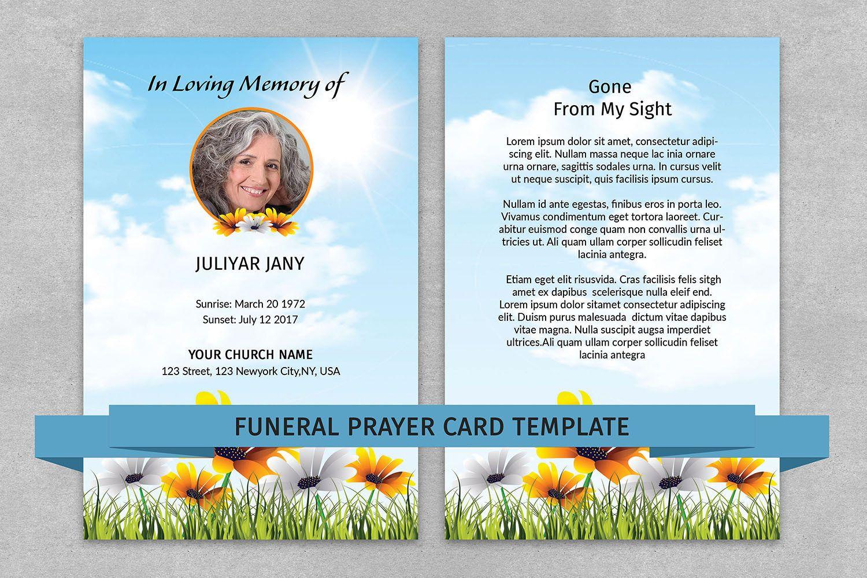 Memorial Prayer Card Template Funeral Prayer Card Editable MS - Funeral prayer cards templates