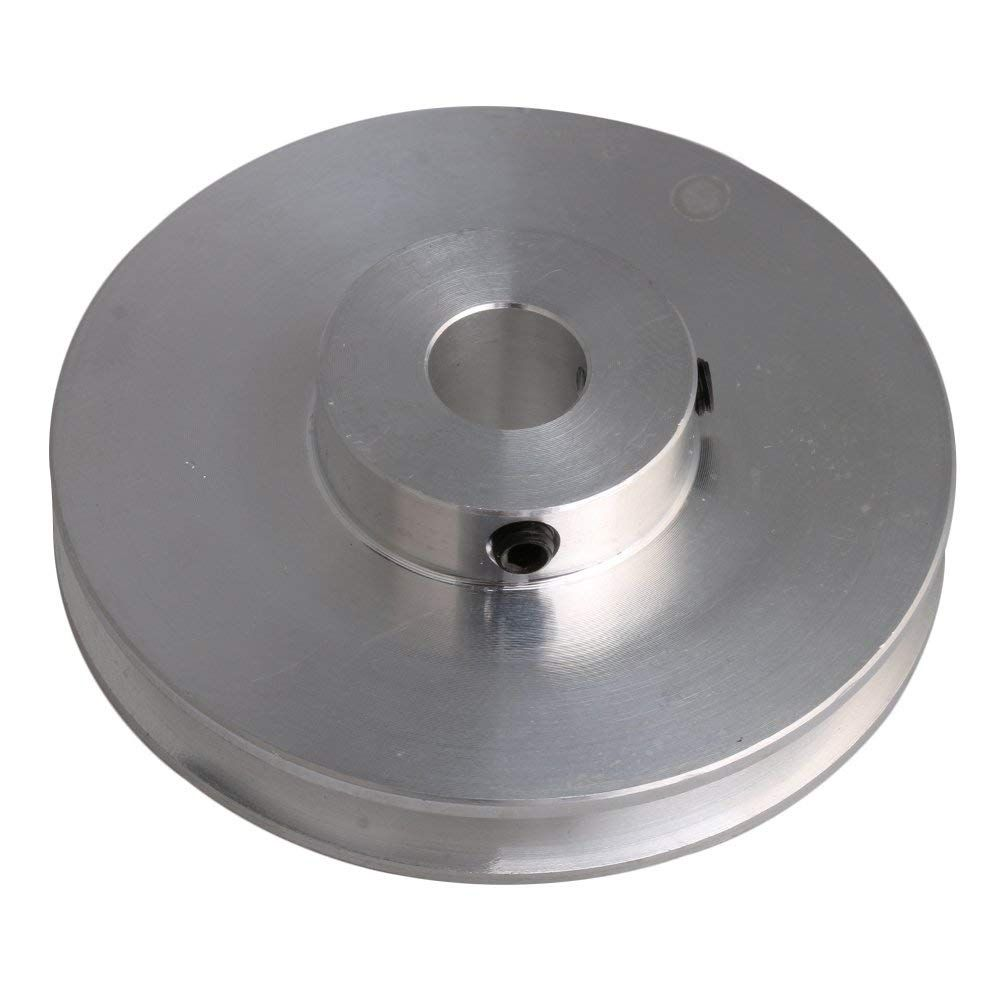 58x16x10mm Silver Aluminum Alloy Single Groove 10mm Fixed Bore Pulley For Drilling Machine 3 5mm Pu Round Belt In Pulle Drilling Machine Aluminium Alloy Pulley