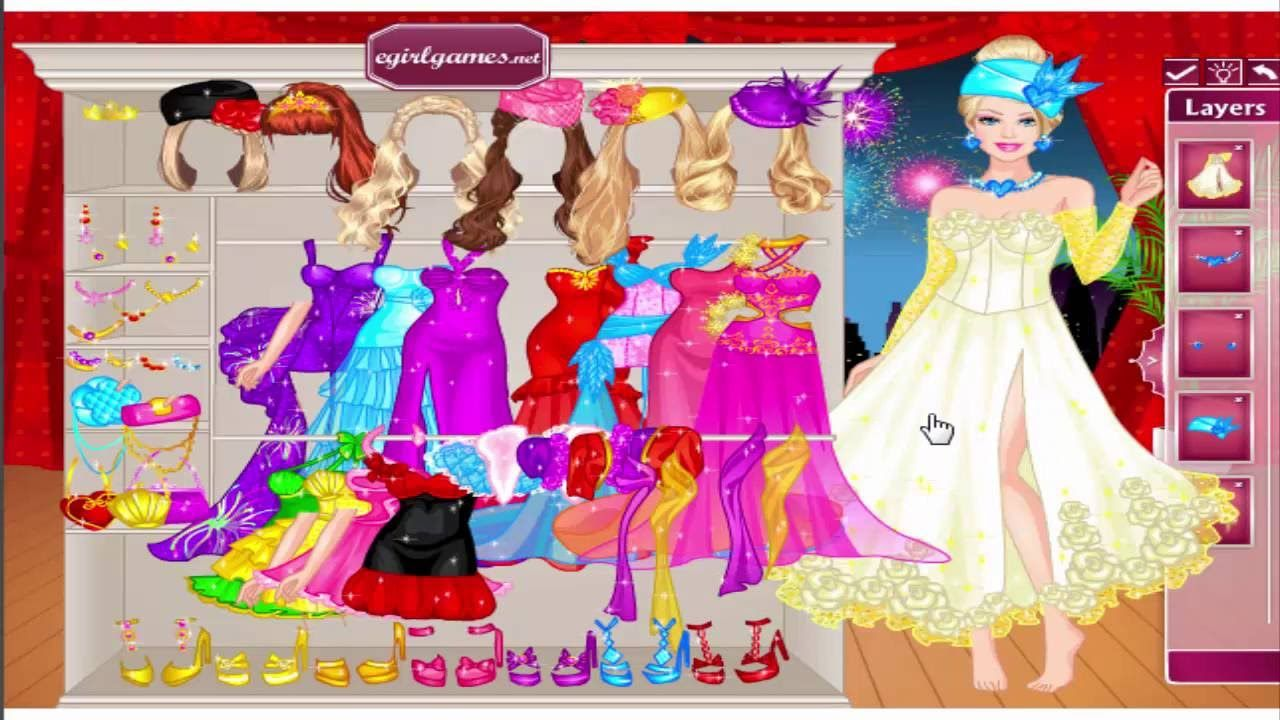 Dress Up Game: Barbie Rooftop Party Dress Up and Barbie Denim Style ...