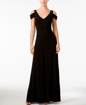 7eb0dca38f Calvin Klein Off-Shoulder Short-Sleeve Gown - Dresses - Women - Macy s