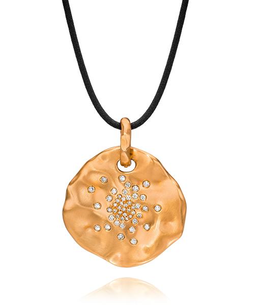 Antonini Anniversary 18 karat rose gold Disc Pendant Available at