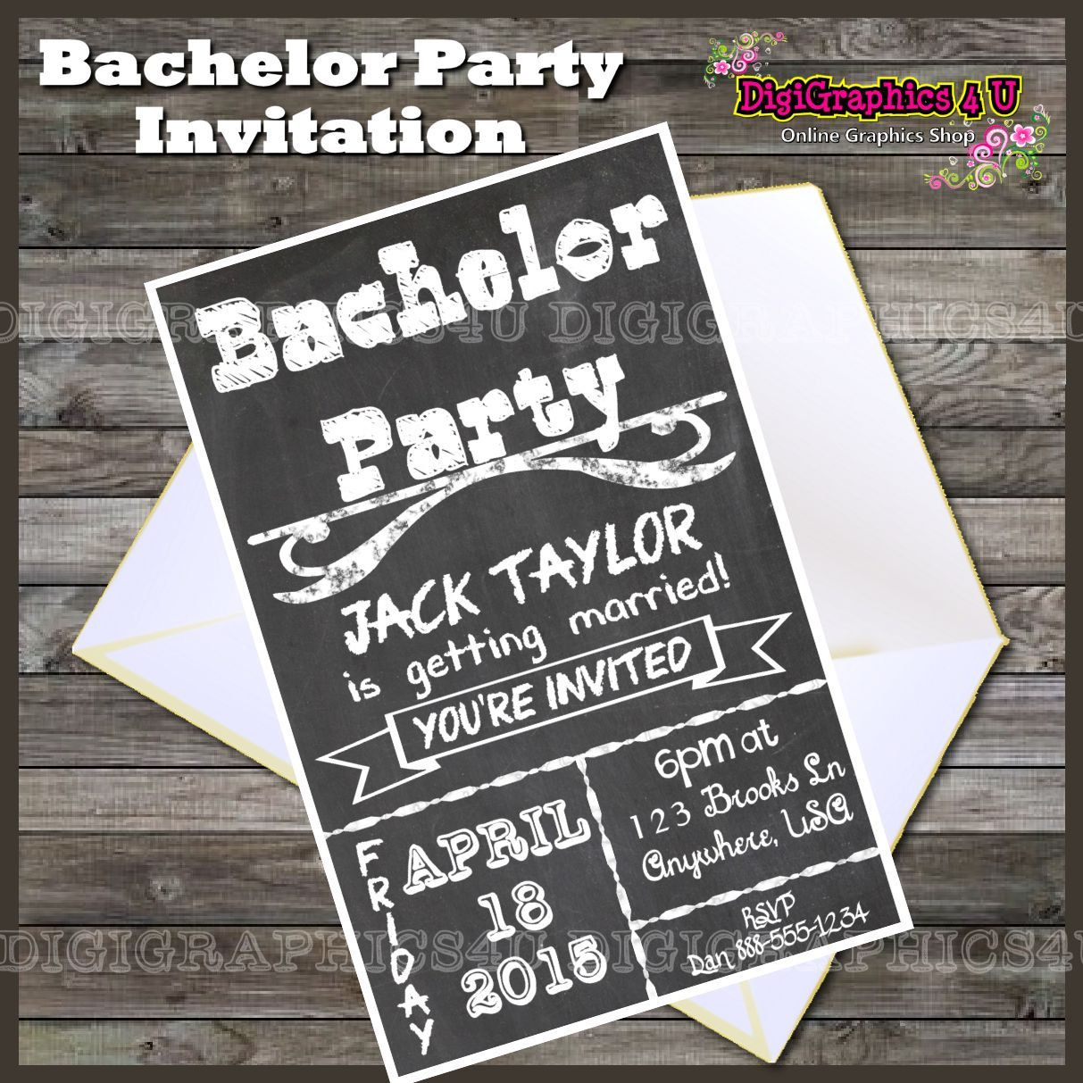 Stunning Bachelor Party Invitation Templates Photos - Professional ...
