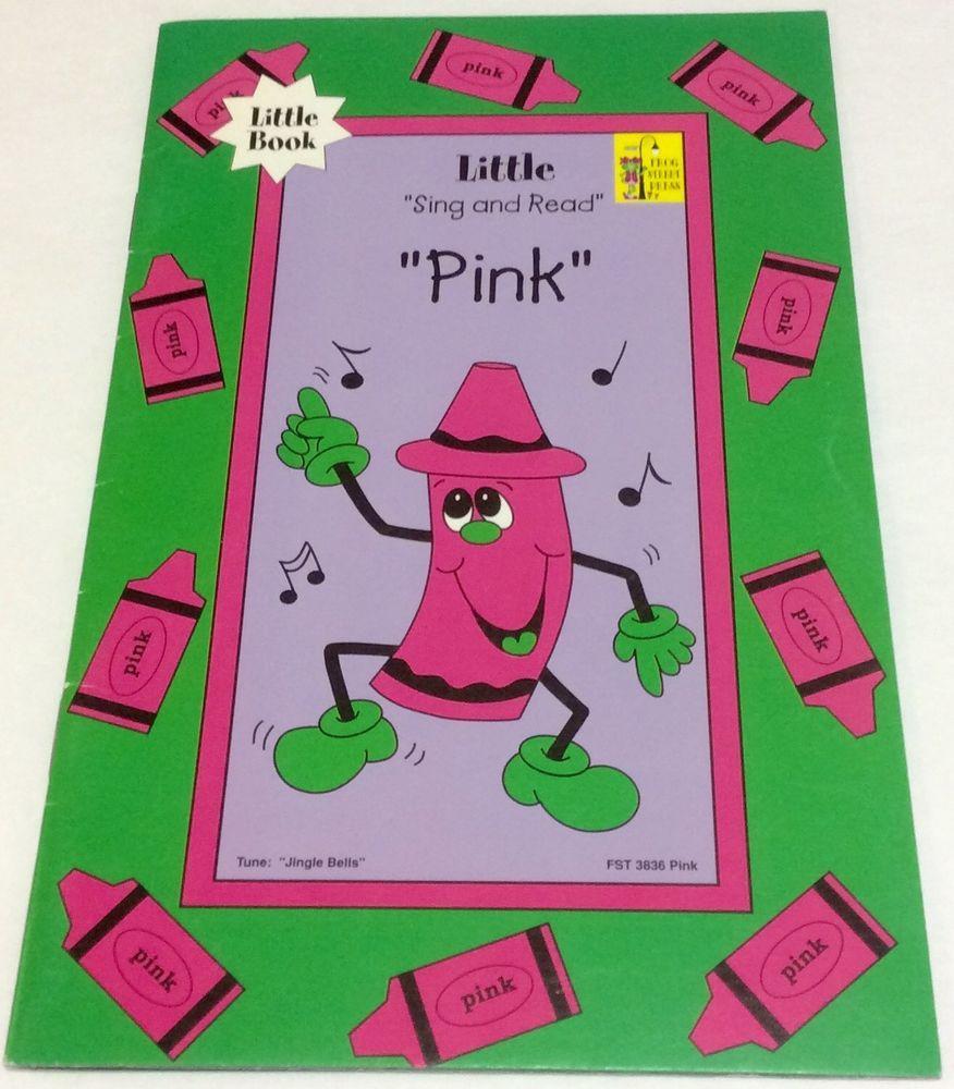 Frog Street Press Sing And Read Pink Little Book Color Words Grade K ...