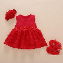 Niñas recién Nacidas Del Bebé Infantiles Zapatos de Vestido y ropa de Verano  Trajes de Cumpleaños que Los Niños 1-2years Conjunto Traje de Bautizo Del  Bebé ... 8a3f6bbc20e8