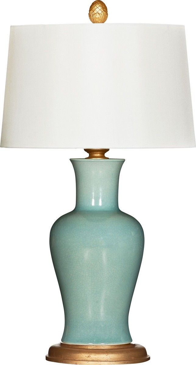 Attractive Blue Porcelain Table Lamp With Shade #homedecor #lightfixtures