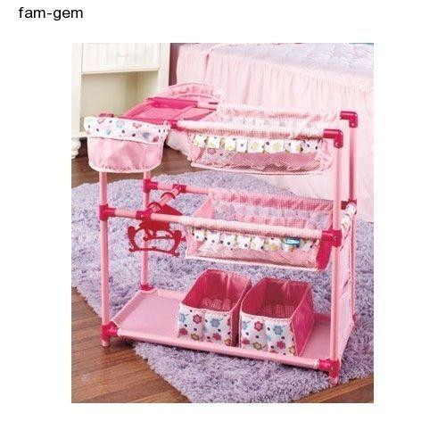 Doll Nursery Twin Crib Bunk Bed Baby High Chairs Play