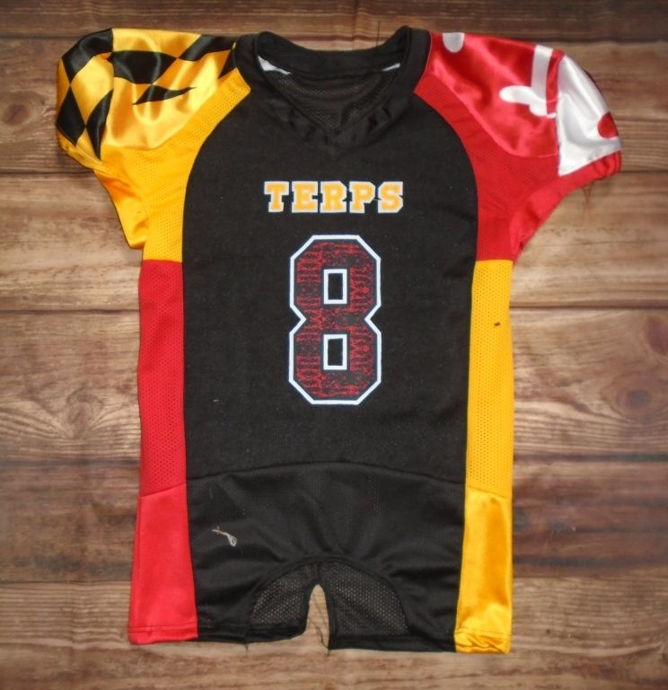 4f491406 Terps Football custom jersey created at The Final Touch Embroidery &  Screenprinting , Sports... in Cumberland, MD! Create your own custom  uniforms at ...