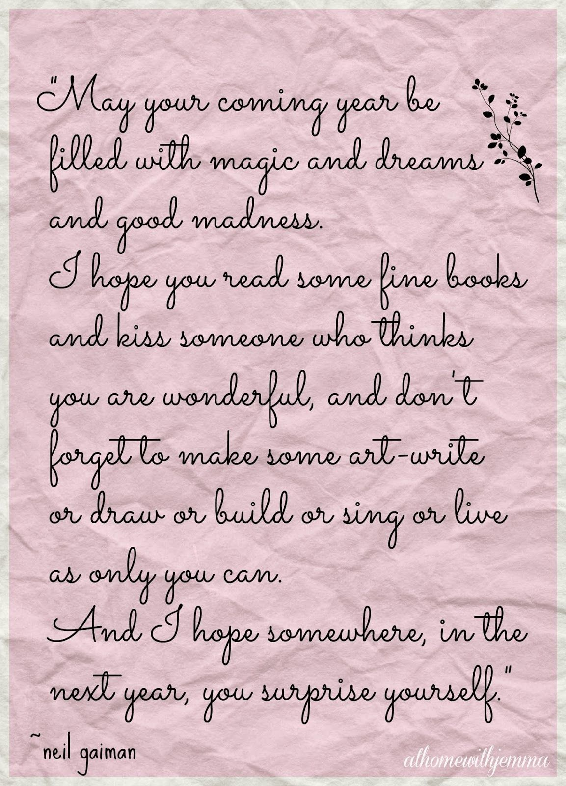 New Years Table & Wish | Inspirational words of wisdom ...