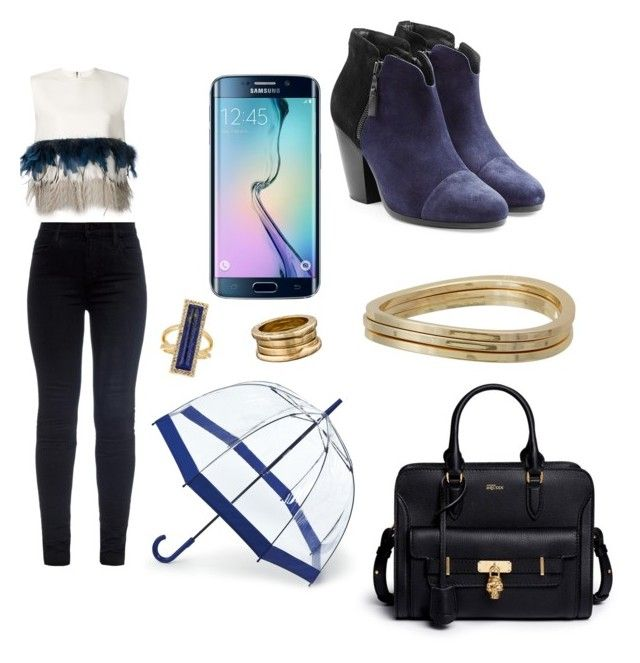 """Untitled #259"" by karla-mouque on Polyvore featuring J Brand, Dsquared2, rag & bone, Alexander McQueen, GUESS, House of Harlow 1960, Bulgari and Samsung"