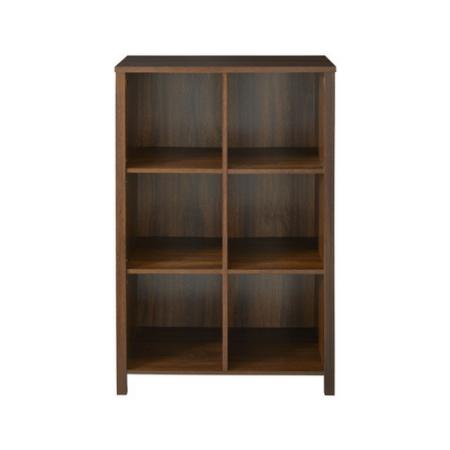 Closetmaid 1605400 Adjustable 6 Cube Organizer Bookshelf Chestnut