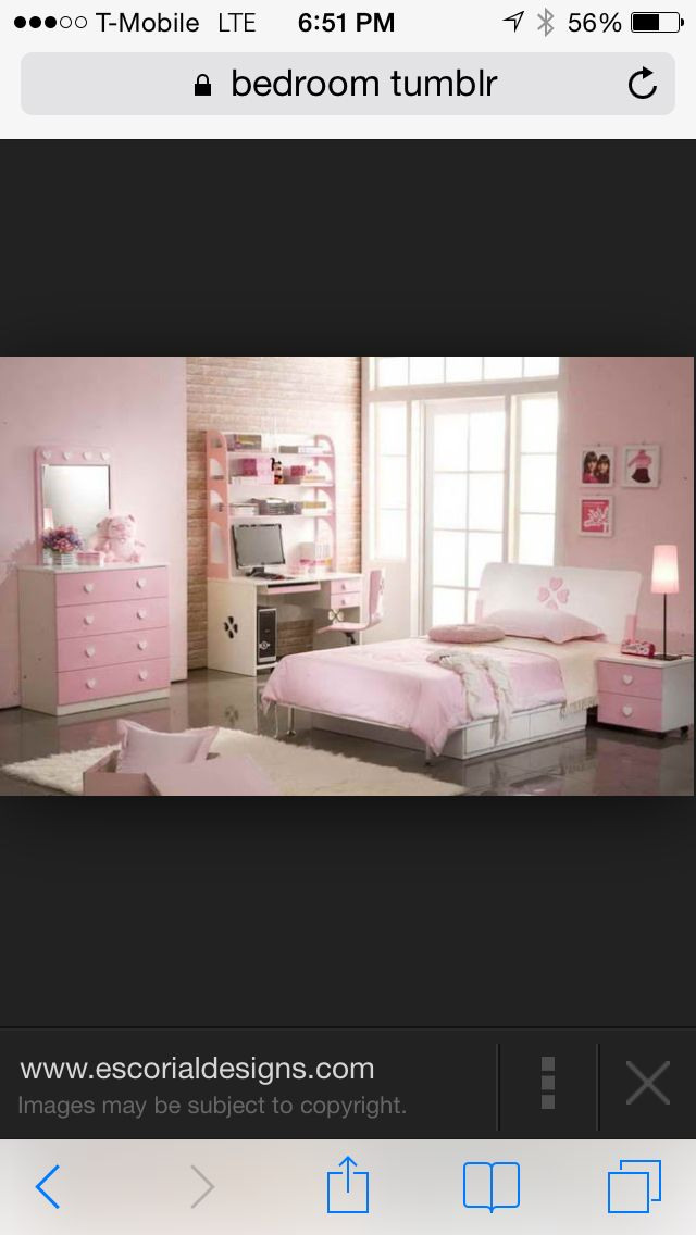 Cute pink chic bedroom Teen bedroom Pinterest