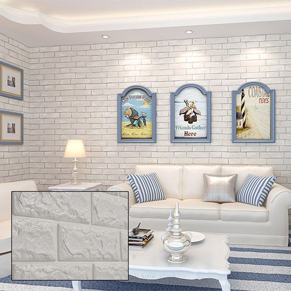 3d Brick Wall Sticker Diy Self Adhesive Background Wallpaper W