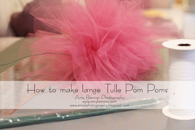 how to make large tulle pom poms