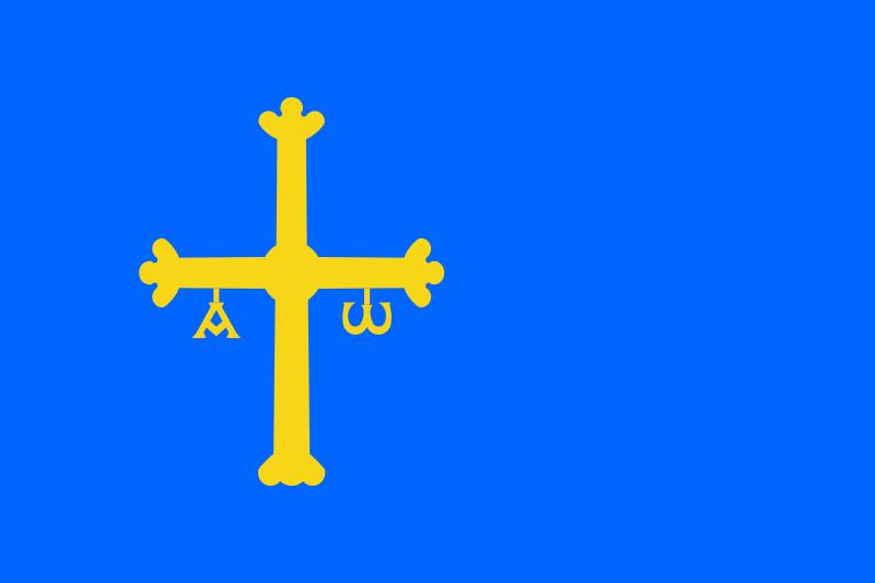 Bandera de la Provincia de Asturias.