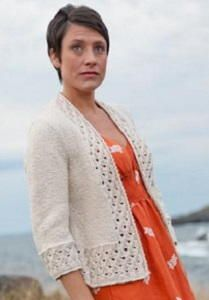 Garden Party Cardigan - Create a beautiful and elegant piece for your wardrobe with the Garden Party Cardigan. What sets this apart from other cardigan knitting patterns is the gorgeous lace knitting detail that creates the fabulous border. Cardigan knitting patterns can be intimidating, but this one is composed of such simple stitches that you will be able to create this garment without a problem.