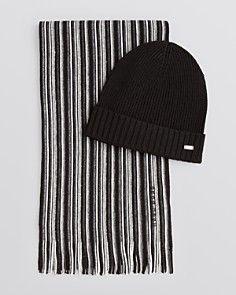 Men S Hats Gloves Scarves Bloomingdale S Knitted Hats Striped Scarves Hat Designs