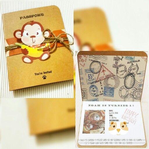 safari themed passport birthday