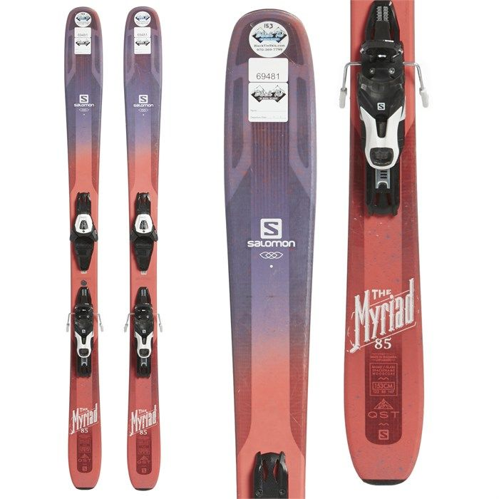 Myriad 85 Skis + Salomon Lithium 10 Demo