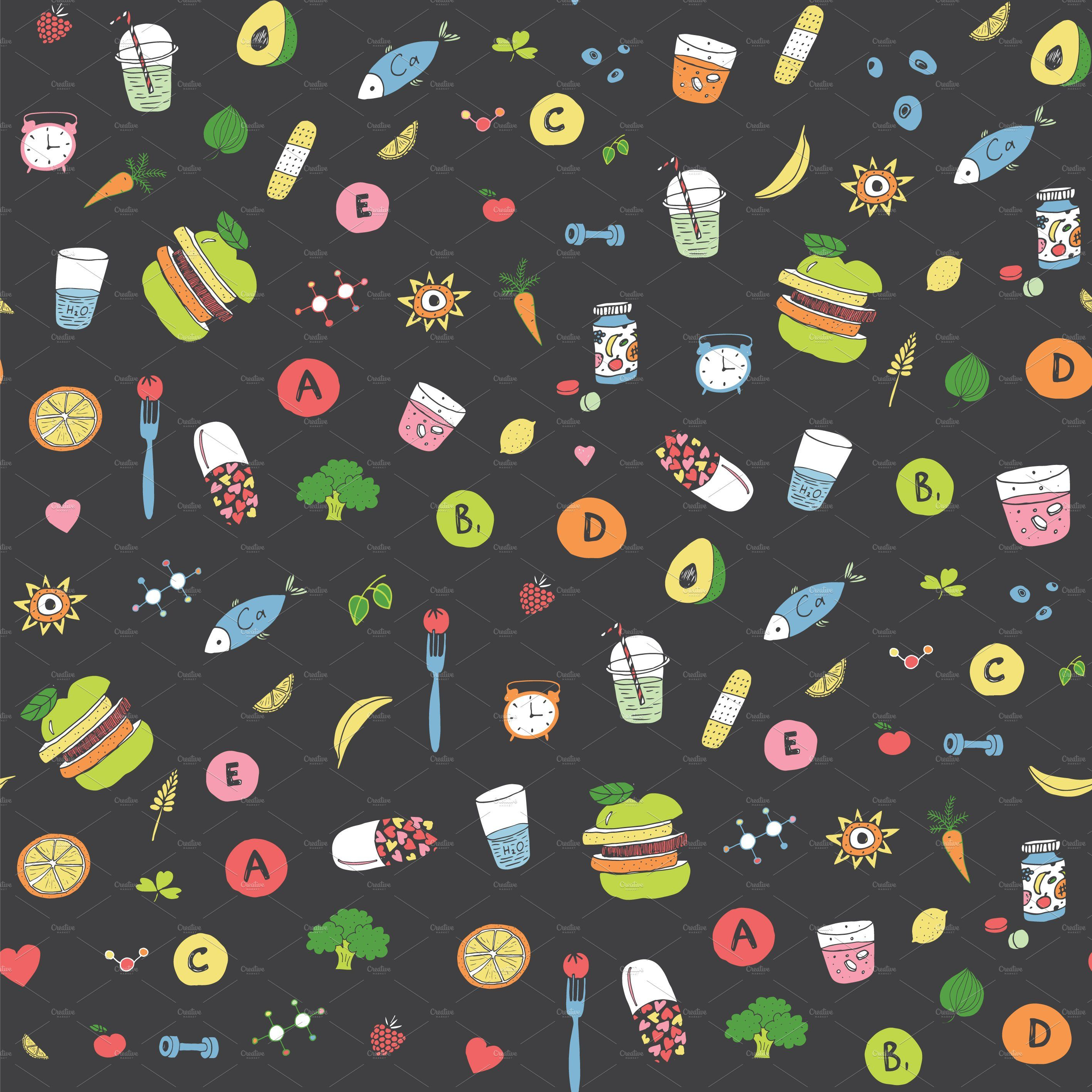 Medicine Vector file, Seamless patterns, Set patterns