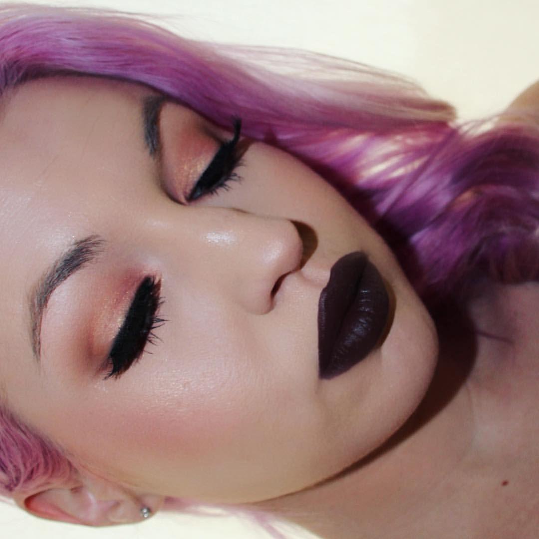 "Dana Bomar on Instagram: "" @meltcosmetics Amelie on the lid & blush Unseen & Blurr in the crease @meltcosmetics catsuit lipstick #meltcosmetics #meltcatsuit #meltamelie #meltdarkmatter"""