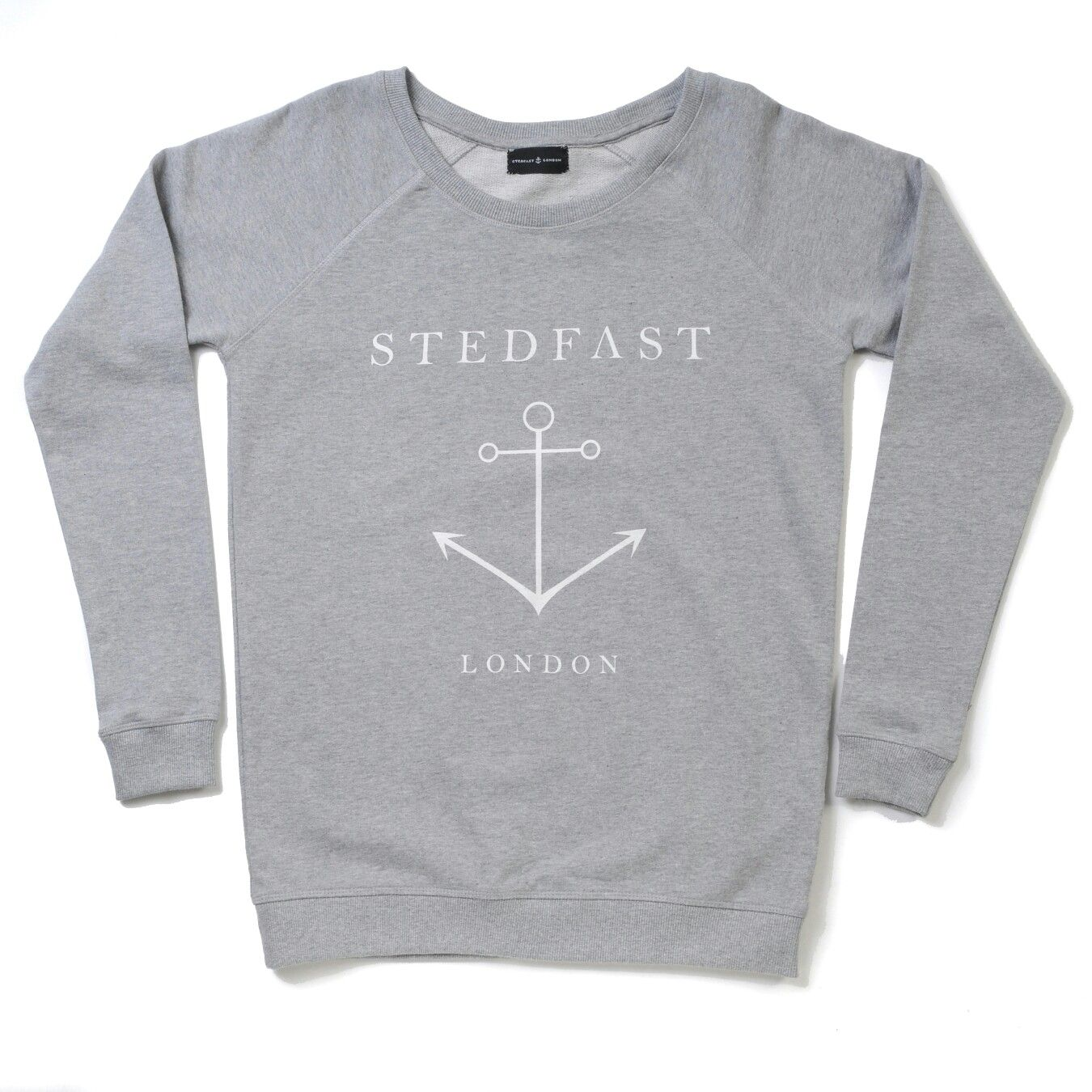 Stedfast London grey anchor sweatshirt woman