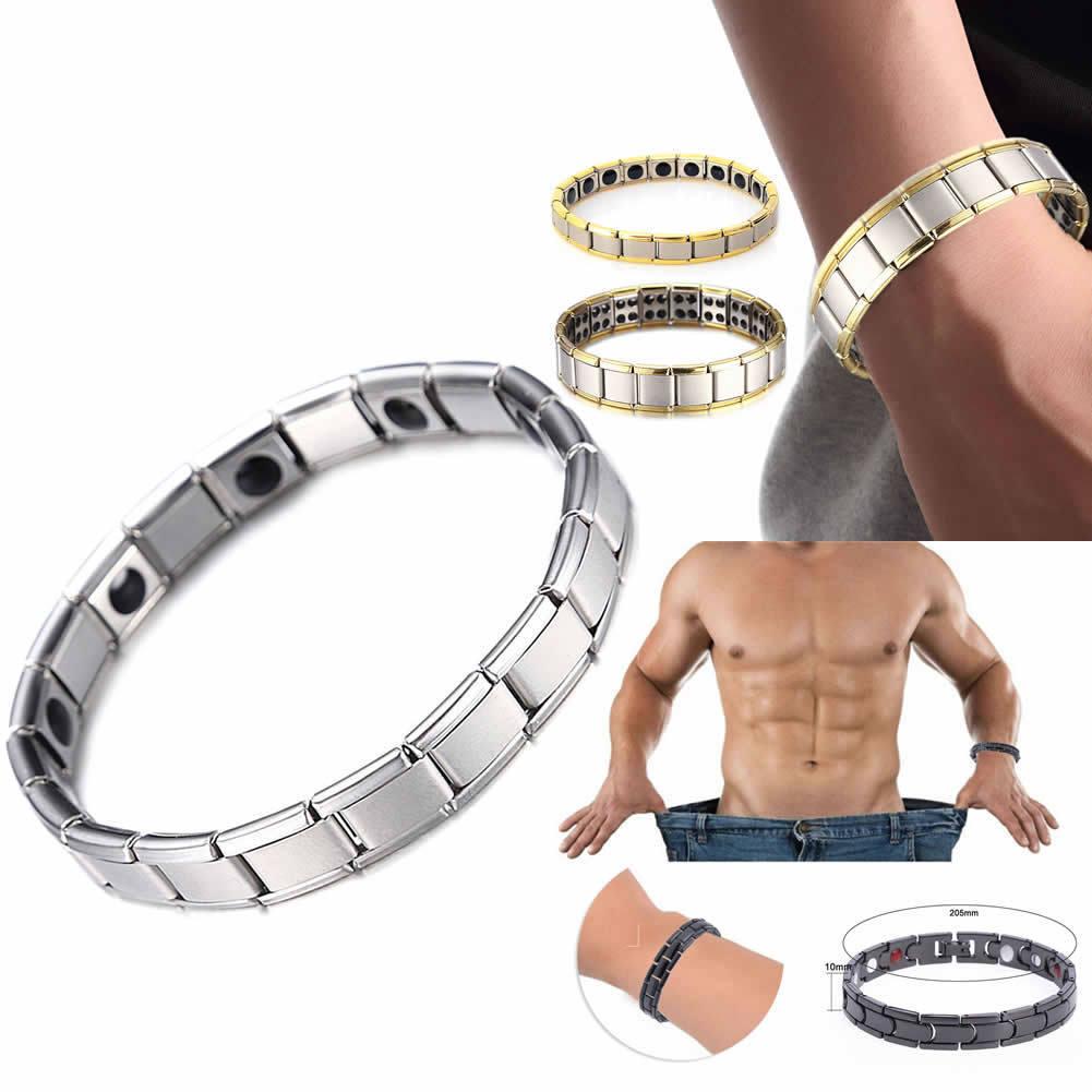 Men women titanium steel therapy energy magnetic bracelet health