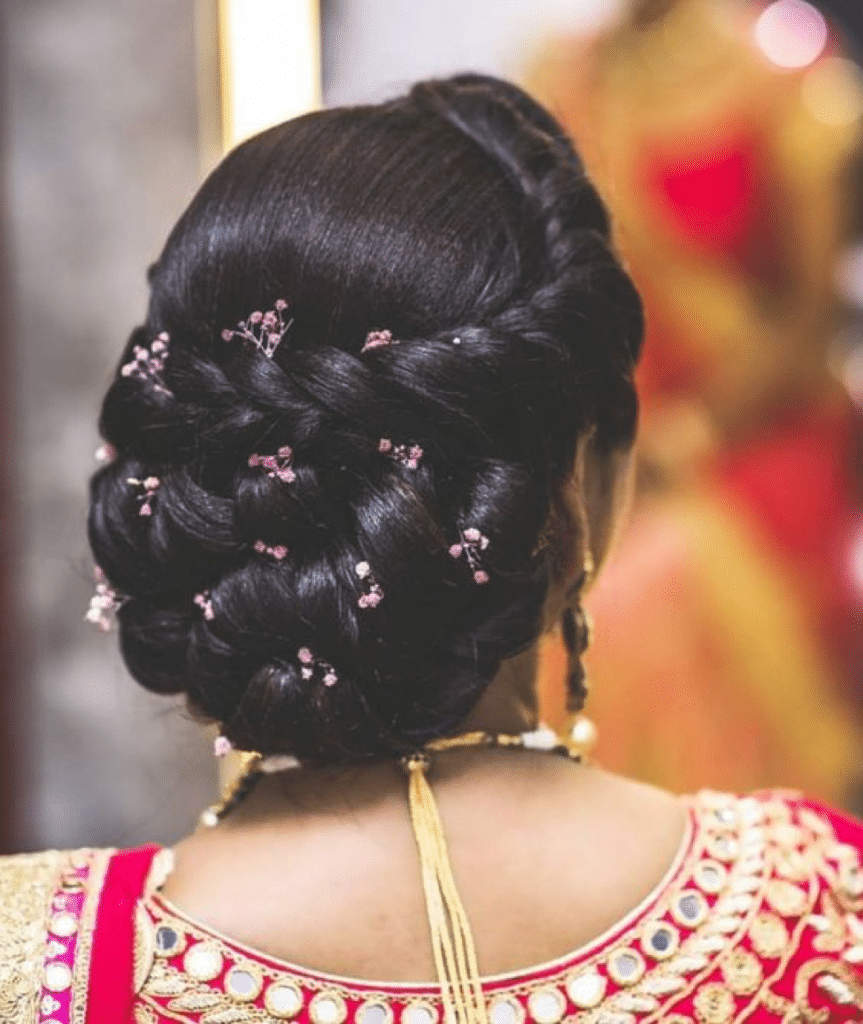 hairstyle for indian wedding party   Hair styles, Bridal hair buns ...