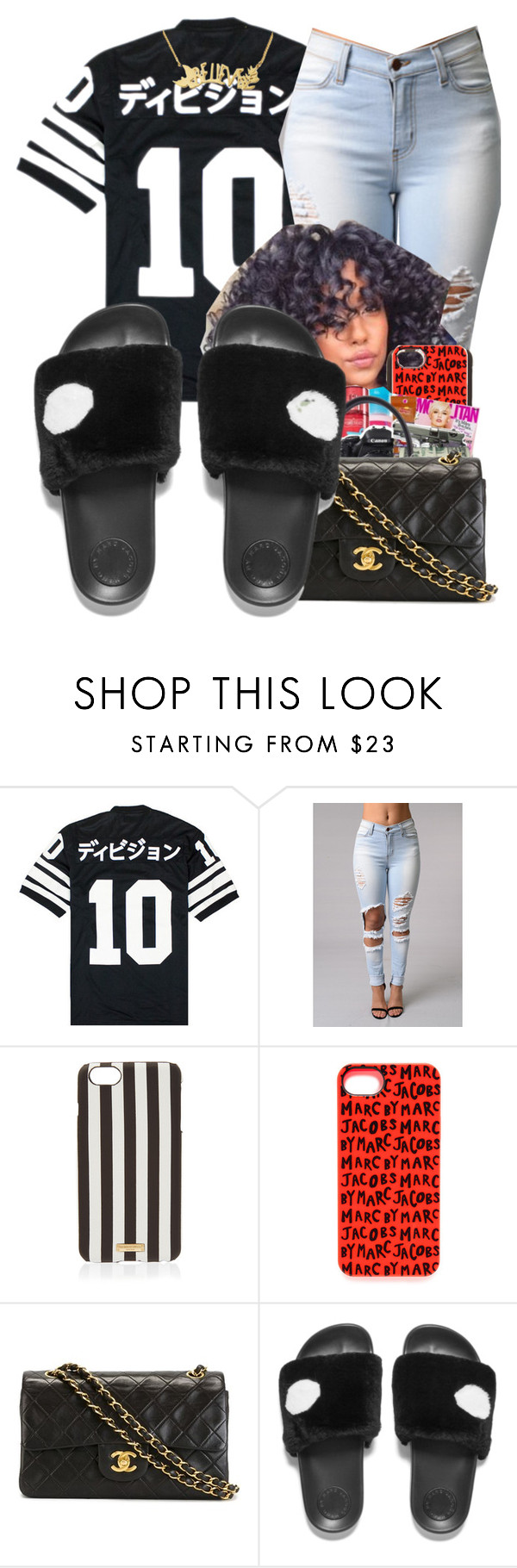 """""""School Today"""" by shamyadanyel ❤ liked on Polyvore featuring 10.Deep, Henri Bendel, Marc by Marc Jacobs and Chanel"""
