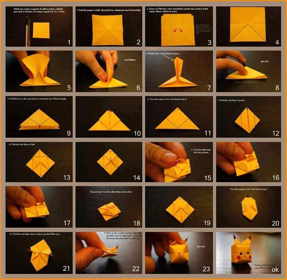 origami de pikachu