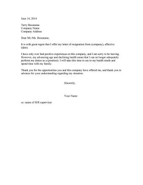 Resignation Letter Sample Pdf  Resignation Letter